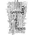 yard and garden trends for text word cloud concept vector image vector image
