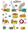 colorful food vector image
