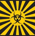 biological hazard sign dangerous pop art style vector image