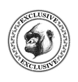 Ape head logo in black and white vector image vector image