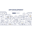 Application Development Doodle Concept vector image vector image
