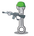 army spanner character cartoon style vector image vector image