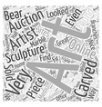art auctions for sculptures Word Cloud Concept vector image vector image