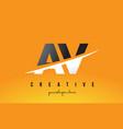 av a v letter modern logo design with yellow vector image vector image