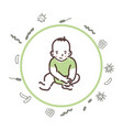 baby is protected from bacteria and viruses vector image vector image
