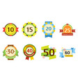 birthday badge banner design flat set celebration