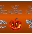 border seamless background happy halloween vector image vector image
