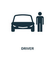 car driver icon in flat style icon design vector image