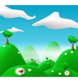 Cartoon landscape vector image