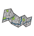 city map isolated vector image