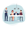 couple ordering food in restaurant or cafe flat vector image
