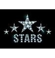 Diamond stars vector image vector image
