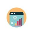 digital marketing website statistics chart report vector image vector image