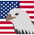 eagle on the background of the american flag icon vector image vector image