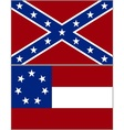 Flags of the Confederacy vector image