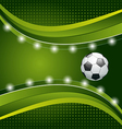 Football background with ball for design card vector image vector image
