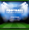 football championship match preview backdrop vector image