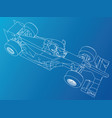 formula race car abstract drawing tracing vector image