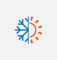 hot and cold symbol icon vector image
