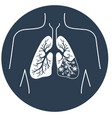 icon of lung disease black vector image vector image