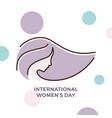 international womens day banner vector image