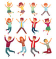 jumping kids excited children jump happy jumped vector image vector image