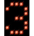 led digits 3 vector image vector image