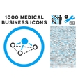 Molecule Rounded Icon With Medical Bonus vector image