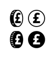 Money pound icon vector image vector image