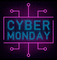 neon cyber monday vector image vector image