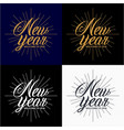 new year 2018 vintage lettering design vector image