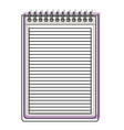 notebook with horizontal lines and metal spiral on vector image vector image