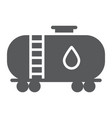 oil tank glyph icon industy and container fuel vector image vector image