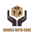 packaging symbols on brown cardboard box vector image