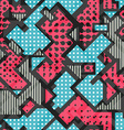 pink geometric seamless pattern vector image vector image