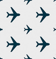 Plane icon sign Seamless pattern with geometric vector image vector image