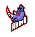 rhino logo template high resolution image vector image vector image