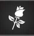 rose flower gift on black background vector image