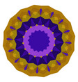 round purple and gold geometric background vector image vector image