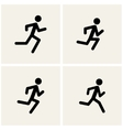 Running men vector image