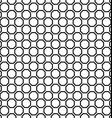 Seamless black and white octagon pattern design vector image