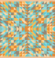 seamless geometric triangle pattern abstract vector image vector image