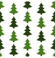seamless of christmas trees vector image