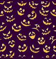 seamless pattern fun pumpkin smiles designer vector image vector image