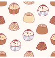 Seamless pattern with hand drawn chocolate candies vector image vector image