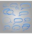 set blue balloons made marker vector image