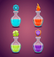 set bottles with different potions-3