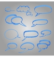 Set of blue balloons made marker vector image vector image