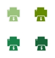 Set of paper stickers on white background money vector image vector image