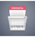 Shredding Documents for Security vector image